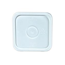 3-1/2, 4 & 4-1/4 Gallon White HDPE Square Lid