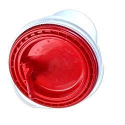 Red Non-Spout Lid for 5 Gallon Ultimate Pail for Liquids