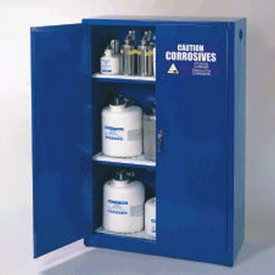 "30 Gallon Acid/Corrosive Cabinet with 1 Shelf - 43"" W x 18"" D x 44"" H"