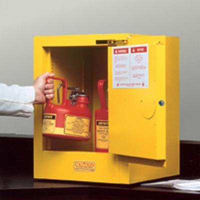 4 Gallon Self-Close Justrite® Sure-Grip® EX Countertop Cabinet