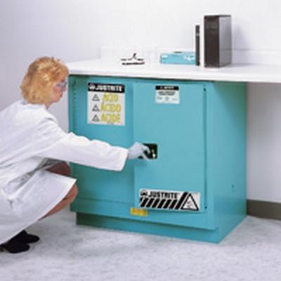 22 Gallon Self-close Undercounter Mount Justrite® Sure-Grip® EX Cabinets for Corrosives