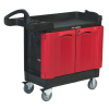 "Rubbermaid® TradeMaster® Small Cart with 2 Door Cabinet - 18"" W x 41"" L x 38"" H"