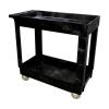 """Black Two Shelf Utility Cart - 36"""" L x 18"""" W x 31"""" H"""
