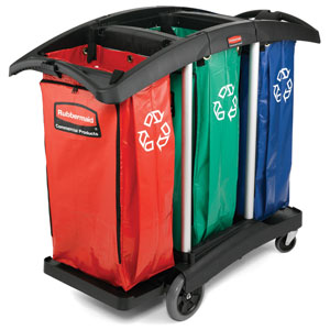 Rubbermaid ® Triple Capacity Cleaning Cart