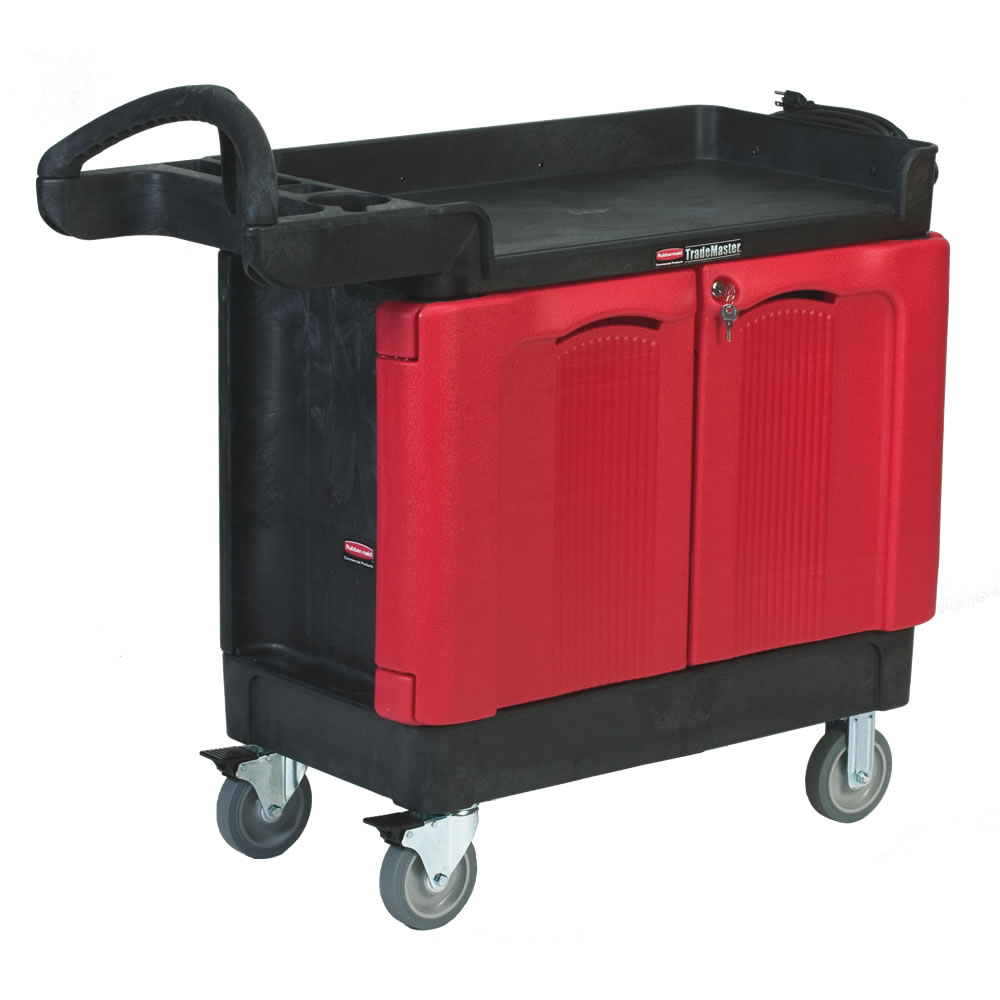 Rubbermaid® TradeMaster® Carts with 2 Door Cabinets