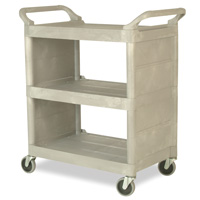 Rubbermaid® Utility Cart with Enclosed End Panels