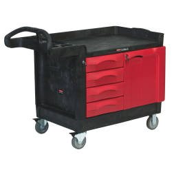 Rubbermaid® TradeMaster® Cart with 4-Drawer & Cabinet