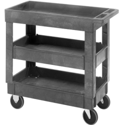 3 Shelf Quantum ® Plastic Utility Cart - 34-1/4