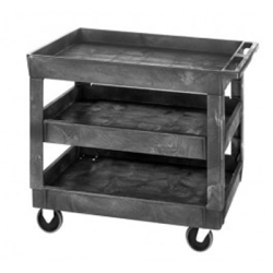 3 Shelf Quantum ® Plastic Utility Cart - 40