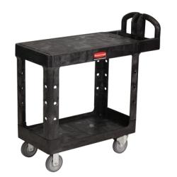 Black Rubbermaid ® Small Flat Shelf Utility Cart - 37-7/8