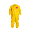 DuPont™ Tychem® 2000 4X-Large Yellow Serged Coveralls with Collar, Storm Flap & Elastic Wrists/Ankles