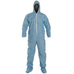 DuPont™ ProShield® 6 SFR Large Blue Coveralls with Attached Hood & Socks & Elastic Ankles