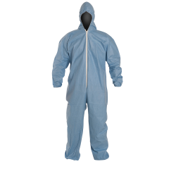 DuPont™ ProShield® 6 SFR Large Blue Coveralls with Attached Hood & Elastic Wrists/Ankles
