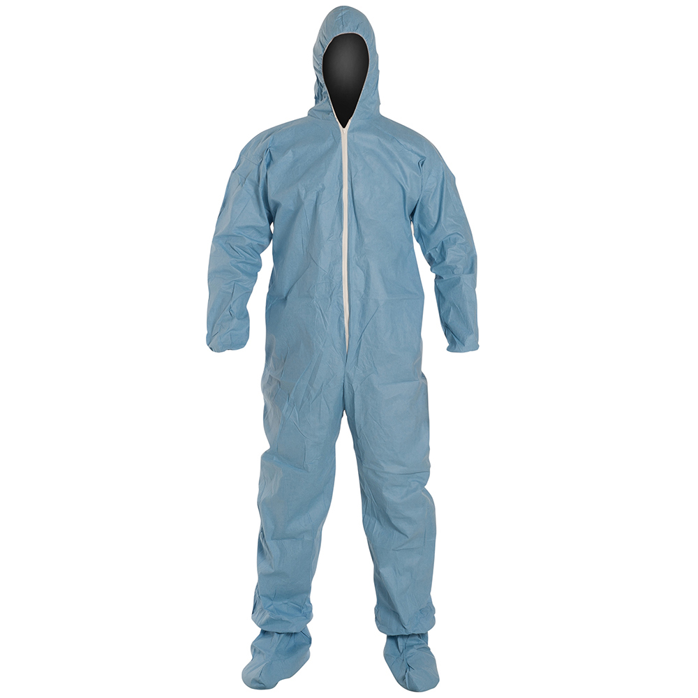 DuPont™ ProShield® 6 SFR X-Large Blue Coveralls with Attached Hood & Socks & Elastic Ankles