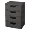 "4 Drawer Gray Unit with Black Handles - 25-5/8"" L x 18-3/4"" W x 35-1/2"" H"