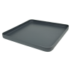 "18-1/2"" L x 18-1/2"" W x 1-1/2"" Hgt. Slate Gray Tamco® Curved Corner Tray"