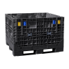 "Black Extra-Duty Collapsible Bulk Container - 48"" L x 45"" W x 34"" Hgt. (Cover Sold Separately)"