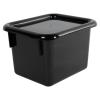 """Black Half Stowaway® Box with Lid - 6-3/5"""" L x 8"""" W x 5-1/2"""" Hgt."""