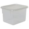 """Clear Half Stowaway® Box with Lid - 6-3/5"""" L x 8"""" W x 5-1/2"""" Hgt."""
