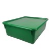 "Green Double Stowaway® Box with Lid - 13-1/2"" L x 16"" W x 5-1/2"" H"