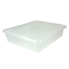 "Clear Stowaway® Letter Box with Lid - 13-1/2"" L x 10-1/2"" W x 3"" H"