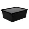 "Black Stowaway® Letter Box with Lid - 13-1/2"" L x 10-1/2"" W x 6"" Hgt."