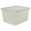 "Clear Small Stowaway® Shelf Box with Lid - 10-1/2"" L x 9"" W x 6"" H"
