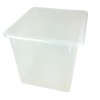 "Clear Large Stowaway® Shelf Box with Lid - 12"" L x 11"" W x 10-1/4"" H"