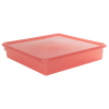 "Strawberry Stowaway® Scrap Box with Lid - 15"" L x 15"" W x 3"" H"