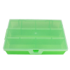 "Translucent Lime Small Organizer Case with Clear Lid - 7"" L x 3-3/4"" W x 1"" Hgt."