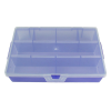 "Translucent Grape Small Organizer Case with Clear Lid - 7"" L x 3-3/4"" W x 1"" Hgt."