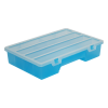 "Translucent Blue Medium Organizer Case with Clear Lid - 10-1/2"" L x 7"" W x 2"" Hgt."