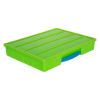 "Lime Large Organizer Case with Clear Lid & Red Handle - 13-1/4"" L x 10-1/2"" W x 2"" Hgt."