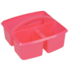 """Pink Small Utility Caddy - 9-1/4"""" L x 9-1/4"""" W x 5-1/4"""" Hgt."""