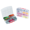 10 Compartment Clear Storage Box with Red Latch