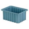 """10-7/8"""" L x 8-1/4"""" W x 5"""" Hgt. Light Blue Divider Box"""