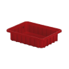 "10-7/8"" L x 8-1/4"" W x 2-1/2"" Hgt. Red Divider Box"