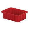"""10-7/8"""" L x 8-1/4"""" W x 3-1/2"""" Hgt. Red Divider Box"""