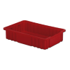 "16-1/2"" L x 10-7/8"" W x 3-1/2"" Hgt. Red Divider Box"