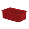 "16-1/2"" L x 10-7/8"" W x 6"" Hgt. Red Divider Box"