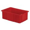 """16-1/2"""" L x 10-7/8"""" W x 6"""" Hgt. Red Divider Box"""