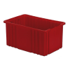 "16-1/2"" L x 10-7/8"" W x 8"" Hgt. Red Divider Box"