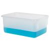 """Natural Polypropylene Tote Box - 12-1/4""""L x 7-7/8""""W x 5-1/4""""H"""