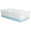 """White Polypropylene Tote Box - 19-1/4""""L x 11-1/2""""W x 5-1/8""""H"""