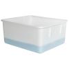 """Natural Polypropylene Tote Box - 15-1/4""""L x 13""""W x 7-1/8""""H"""