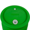 "30 Gallon Green Tamco® Closed Head Drum with 3/4"" & 2"" NPS Bungs"