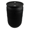 "30 Gallon Black Closed Head Drum with 3/4"" & 2"" NPS Bungs"