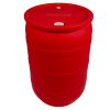 "30 Gallon Red Closed Head Drum with 3/4"" & 2"" NPS Bungs"