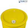 "55 Gallon Yellow Tamco® Closed Head Drum with 3/4"" & 2"" NPS Bungs"