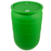 "55 Gallon Green Closed Head Drum with 3/4"" & 2"" NPS Bungs"
